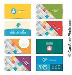Business Card Set Isolated on White Background
