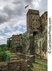 Rheinfels Castle near Village of Sankt Goar  at Rhine River,middle Rhine Valley, Rheingau, Rhineland-Palatinate, Germany