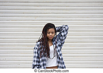 urban style young woman on the street