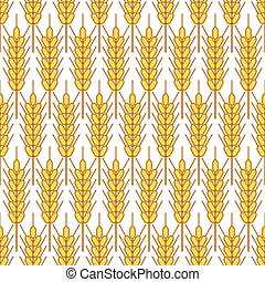 Wheat seamless pattern - Seamless pattern of the spiked...
