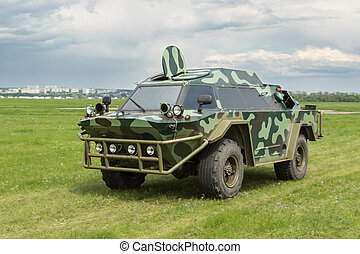 Military armored vehicle - Camouflage military armored...