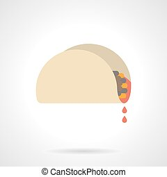 Mexican snacks flat color vector icon