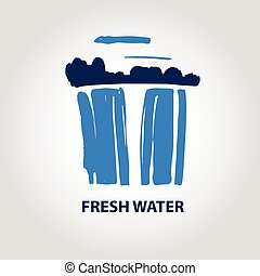 Vector logo for fresh water company.