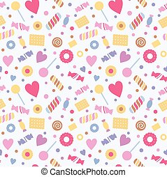 Seamless pattern with sweets, confectionery