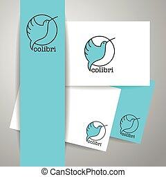 colibri bird sign - Colibri Logo Identity design template...