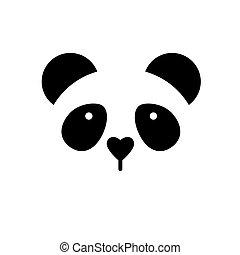 panda bear template - Panda logo Isolated panda head on...