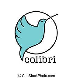 colibri bird sign - Colibri Logo. Bird symbol design...