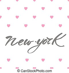 new york love text - New York city lettering design...