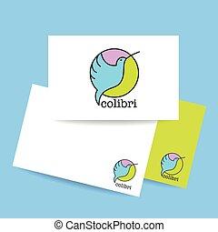 colibri bird sign - Colibri Logo. Identity card design...
