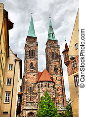 Church in Nuremberg - Holy Sebaldus Church in Nuremberg,...