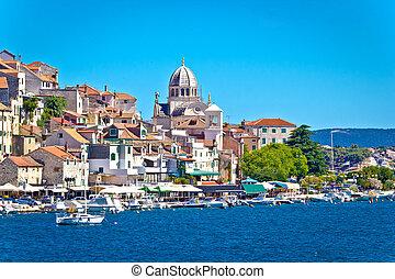 UNESCO town of Sibenik architecture and coastline, Dalmatia,...