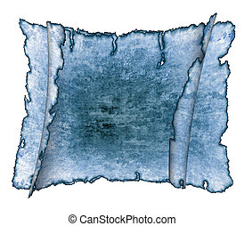Blue vintage grunge textured parchment scrolls, antique background texture of a paper pages, highly detailed