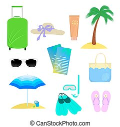 The attributes of summer vacation - Objects that are...