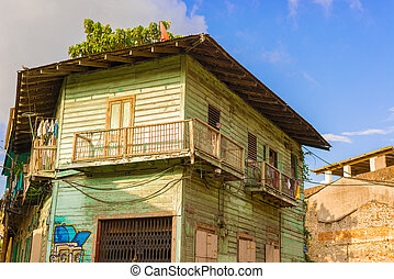 Panam city old houses - Panama city Casco viejo old colonial...