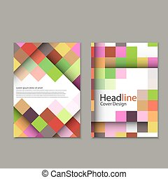 Vector  abstract square pattern brochure.