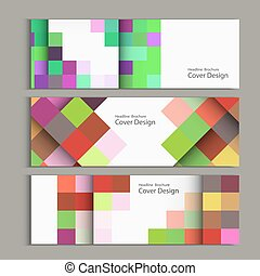 Vector abstract square pattern banner