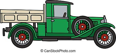 Vintage green lorry