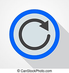 Icon of recycle - vector illustration.