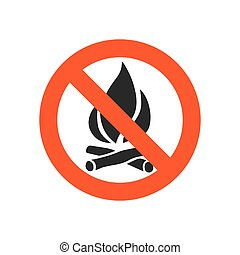 No fire sign - vector illustration. - Sign not fire....