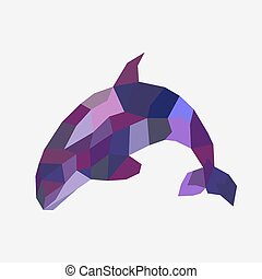 Fish in triangle design - vector illustration. - Modern...