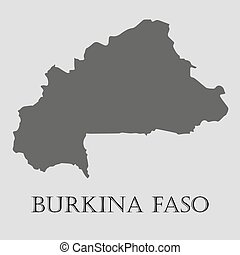 Black Burkina Fasoi map - vector illustration - Black...