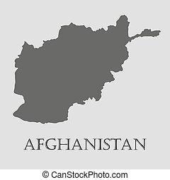 Black Afghanistan map - vector illustration