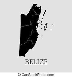 Black Belize map - vector illustration - Black Belize map on...