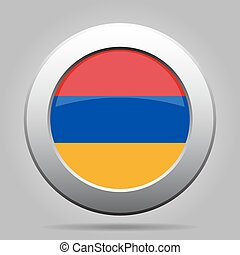 metal button with flag of Armenia - metal button with the...