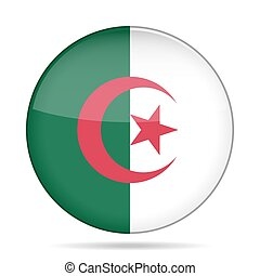 button with flag of Algeria