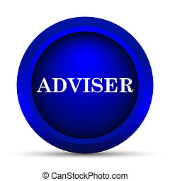 Adviser icon Internet button on white background