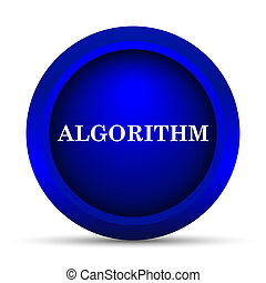 Algorithm icon Internet button on white background