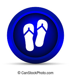 Slippers icon Internet button on white background