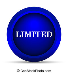 Limited icon Internet button on white background