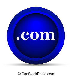 com icon Internet button on white background