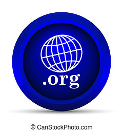 org icon Internet button on white background