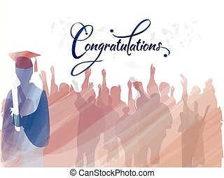 gradpaint - Congratulations to graduates Vector