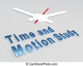 Time and Motion Study concept