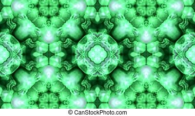 green raised flower fancy pattern