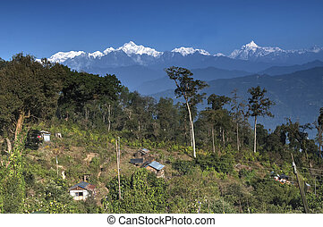 Silerygaon Village, Kanchejuga backdrop, Sikkim - Beautiful...