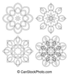 Guilloche decorative elements Vector illustration - A...