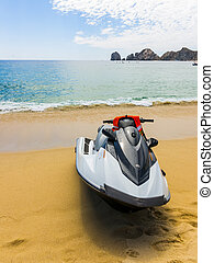 Wave Runner Seadoo or personal watercraft on the Beach