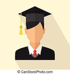 Graduates student - Young graduates student in graduation...