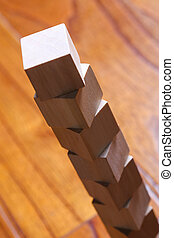 Wooden Blocks - Wooden blocks are on the wooden floor...