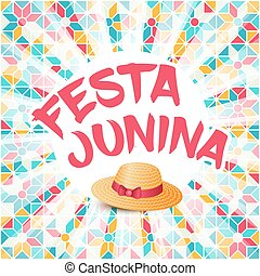 Festa, Junina, Illustration, -, brésil, juin,...