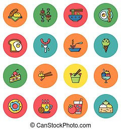 icon set food