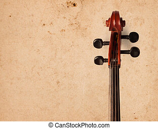 Cello in the interior. Cello on old grunge background