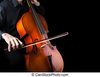Man playing the cello.