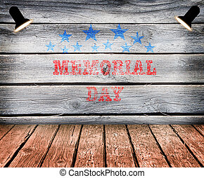 Happy Memorial Day with texture, Stars Stripes and flag