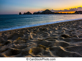 Beach Sunset Colours in Cabo San Lucas, Mexico