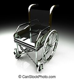 Wheelchair over white background